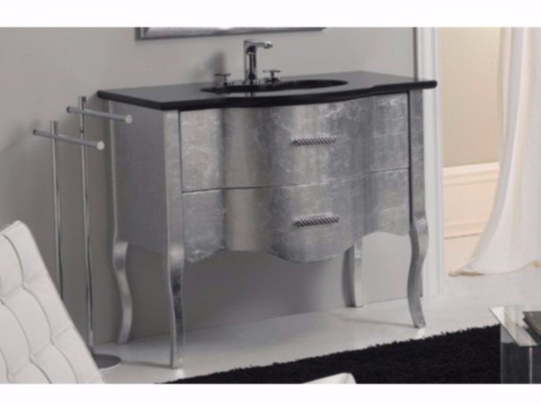 Wooden vanity unit with drawers TIME | Vanity unit with drawers - GSG Ceramic Design