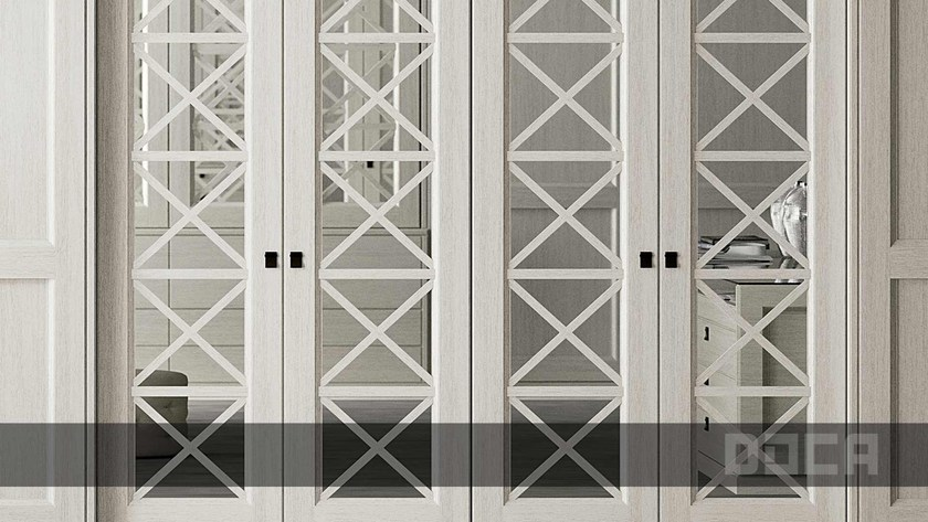 Lacquered eucalyptus wardrobe with sliding doors TIMELESS BLANCO VIEJO by Doca