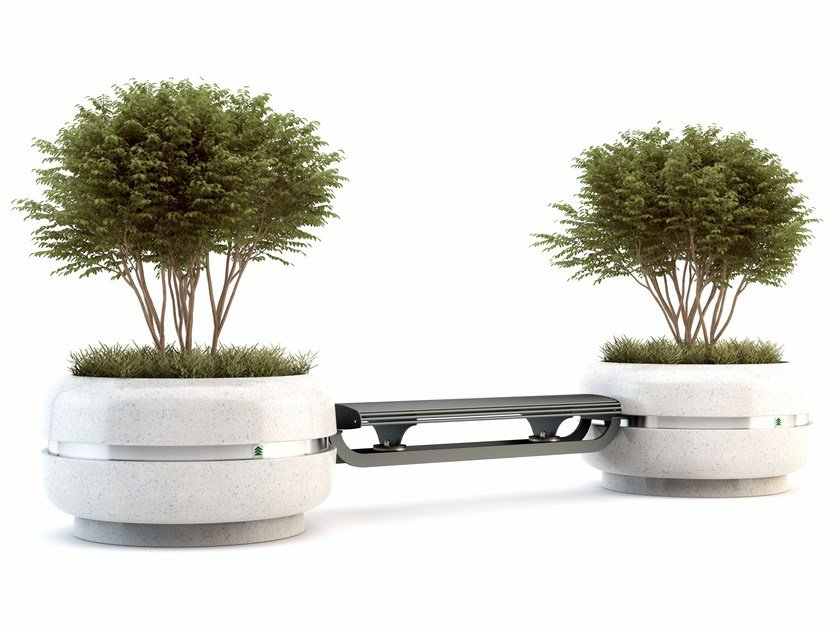 Bench with Integrated Planter TIMELESS COMBINED 820/1220 - Bellitalia