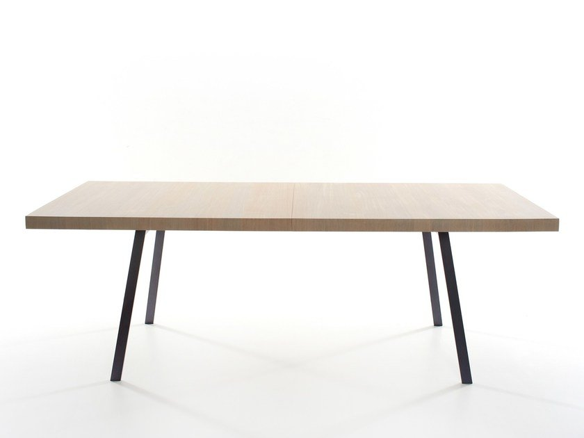 Rectangular solid wood dining table TIN | Dining table by more