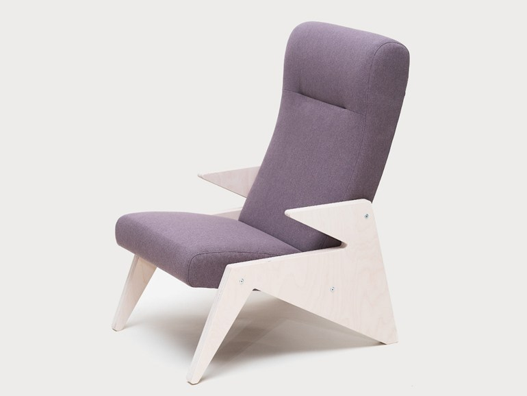 Fabric armchair with armrests TIP - Radis