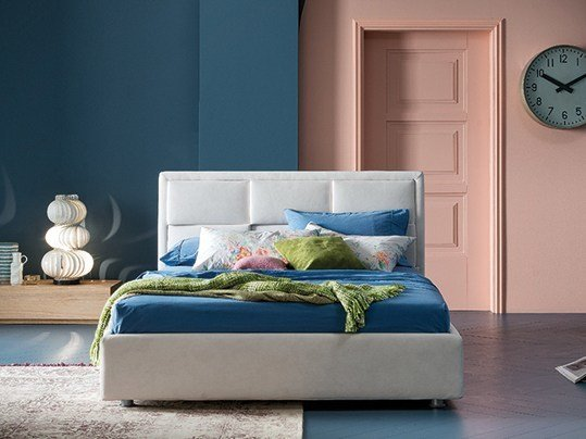 Fabric double bed with upholstered headboard TIP TAP | Bed - Dall'Agnese
