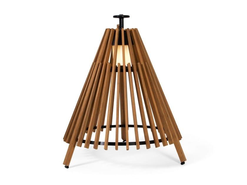Teak Floor lamp TIPI - Skargaarden