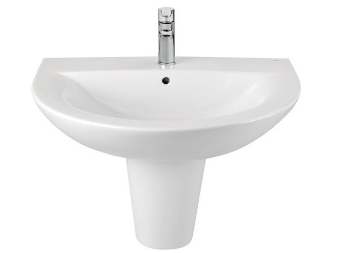 Wall-mounted ceramic washbasin TIPO | Wall-mounted washbasin - ROCA SANITARIO