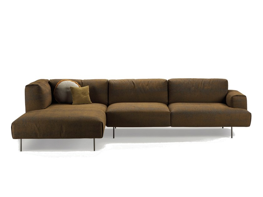 Modular sofa with chaise longue TIPTOE | Sofa with chaise longue by SANCAL