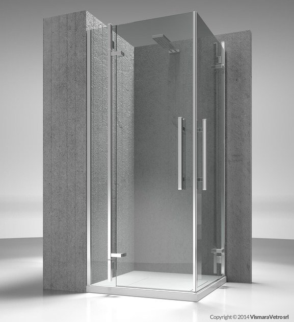 Corner custom tempered glass shower cabin TIQUADRO QA+QA - VISMARAVETRO