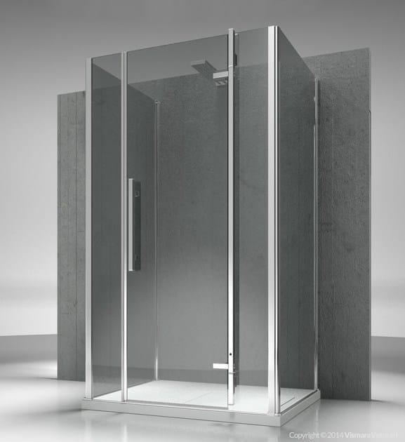 Custom tempered glass shower cabin TIQUADRO QG+QM+QG - VISMARAVETRO