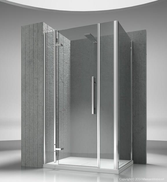 Corner custom tempered glass shower cabin TIQUADRO QM+QG - VISMARAVETRO