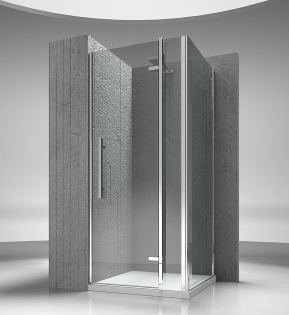 Corner custom tempered glass shower cabin TIQUADRO QN+QG by VISMARAVETRO