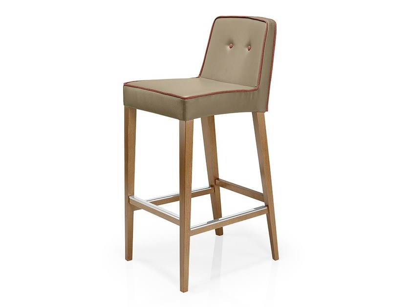 Leather counter stool with footrest TISHA | Counter stool - J. MOREIRA DA SILVA & FILHOS, SA