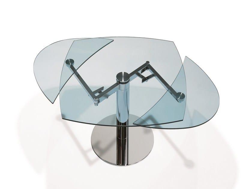 Tavolo allungabile da pranzo ovale in vetro TITAN | Tavolo in ...