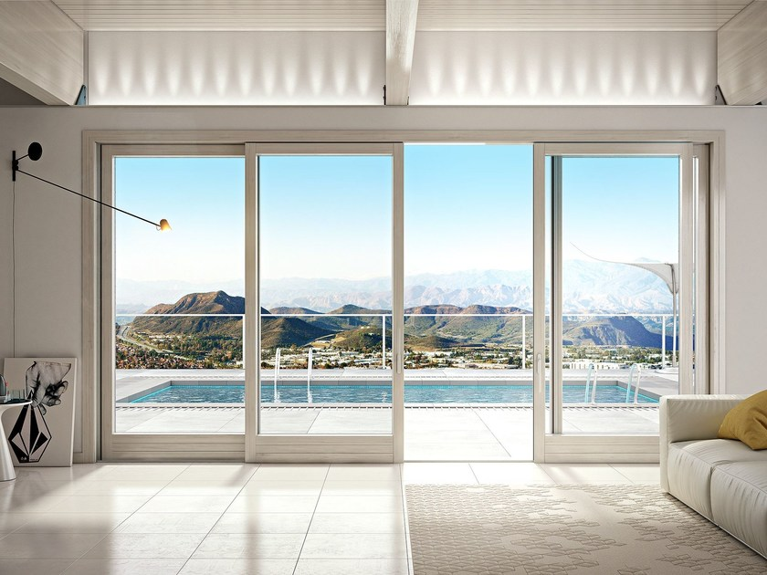 Porta finestra scorrevole complanare titanus 86 flat by - Scheda tecnica finestra ...