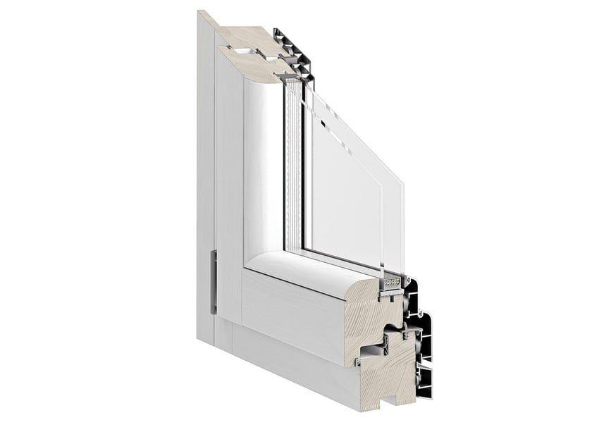 Aluminium and wood casement window TITANUS 86 by Pail Serramenti