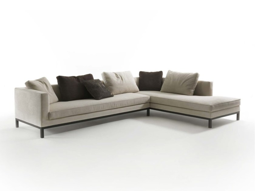 Sectional fabric sofa TITO - FRIGERIO POLTRONE E DIVANI