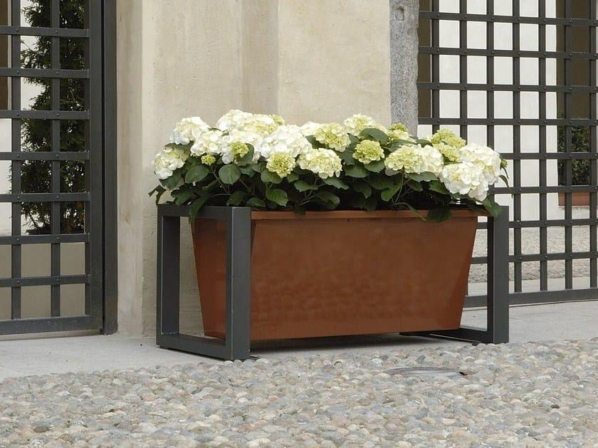 Steel Flower pot TITTA - DAISY - A.U.ESSE