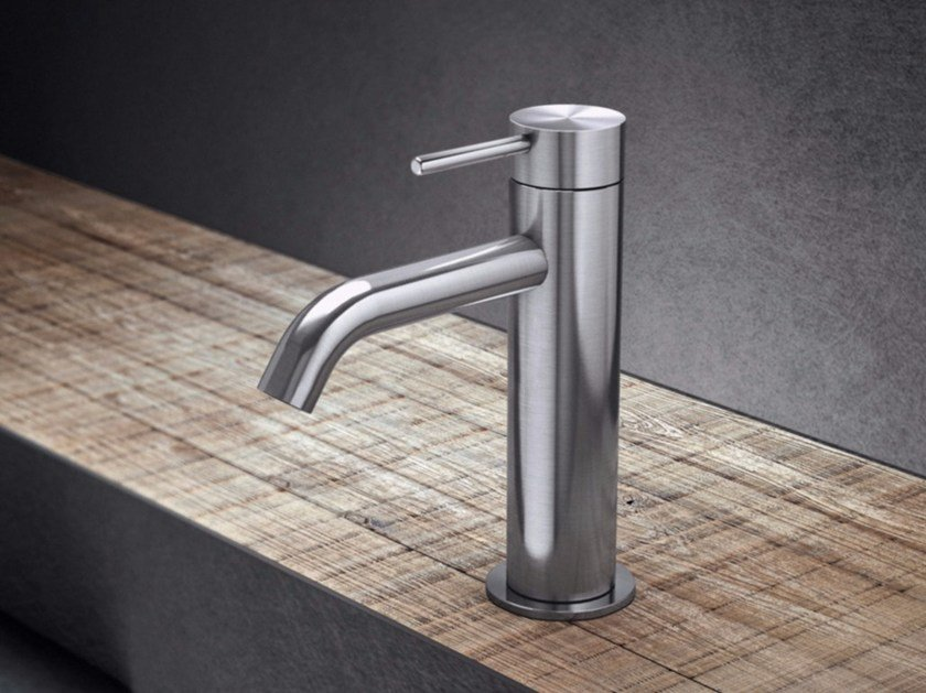 Countertop single handle stainless steel washbasin mixer TKI1 | Washbasin mixer - Radomonte