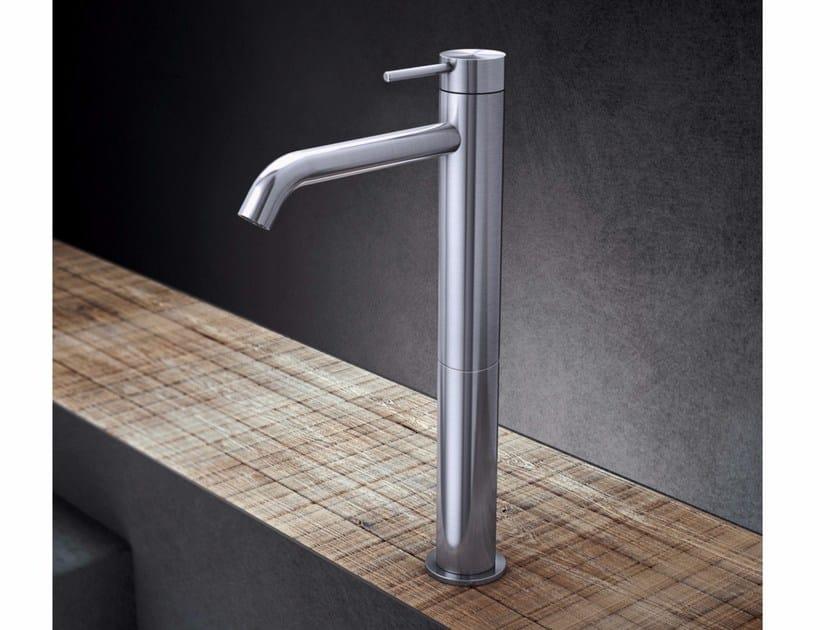 Countertop single handle stainless steel washbasin mixer TKI3 | Washbasin mixer - Radomonte