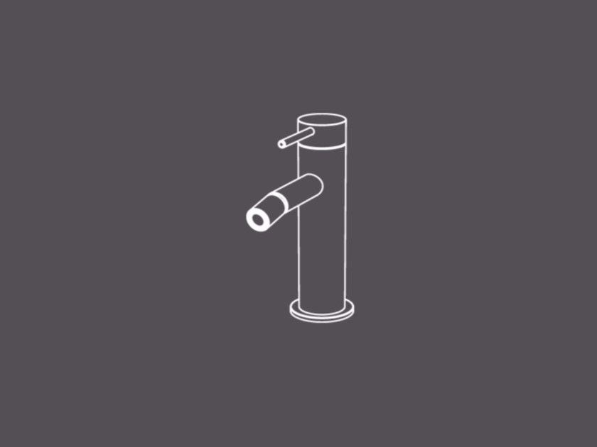 Countertop single handle stainless steel bidet mixer TKI4 | Bidet mixer - Radomonte