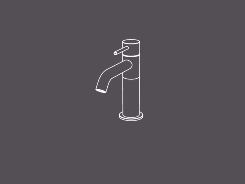 Miscelatore per lavabo da piano monocomando in acciaio inox TKS1 | Miscelatore per lavabo - Radomonte