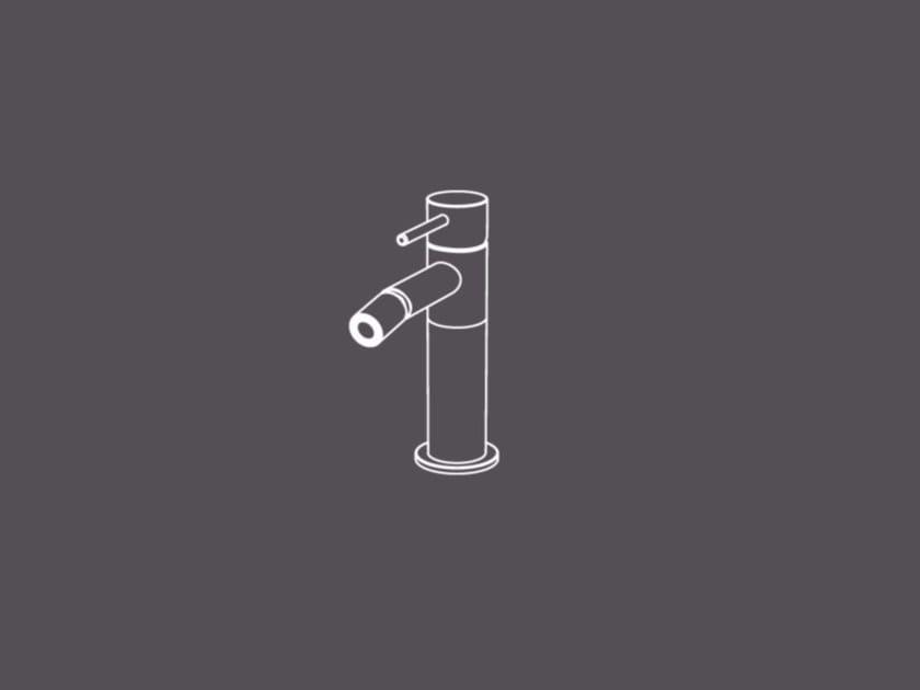 Miscelatore per bidet da piano monocomando in acciaio inox TKS4 | Miscelatore per bidet - Radomonte