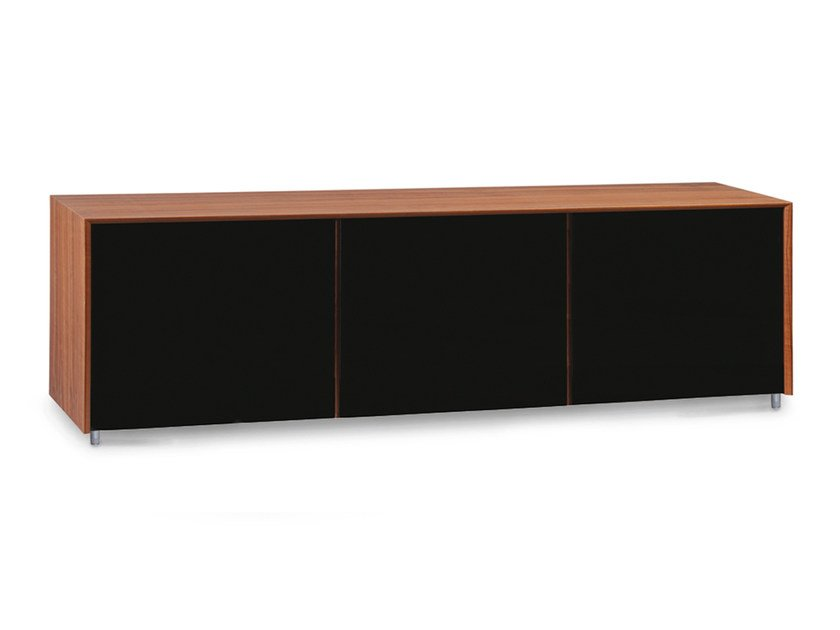 Lacquered wooden sideboard with doors TISCHLEIN | Sideboard - Oliver B.