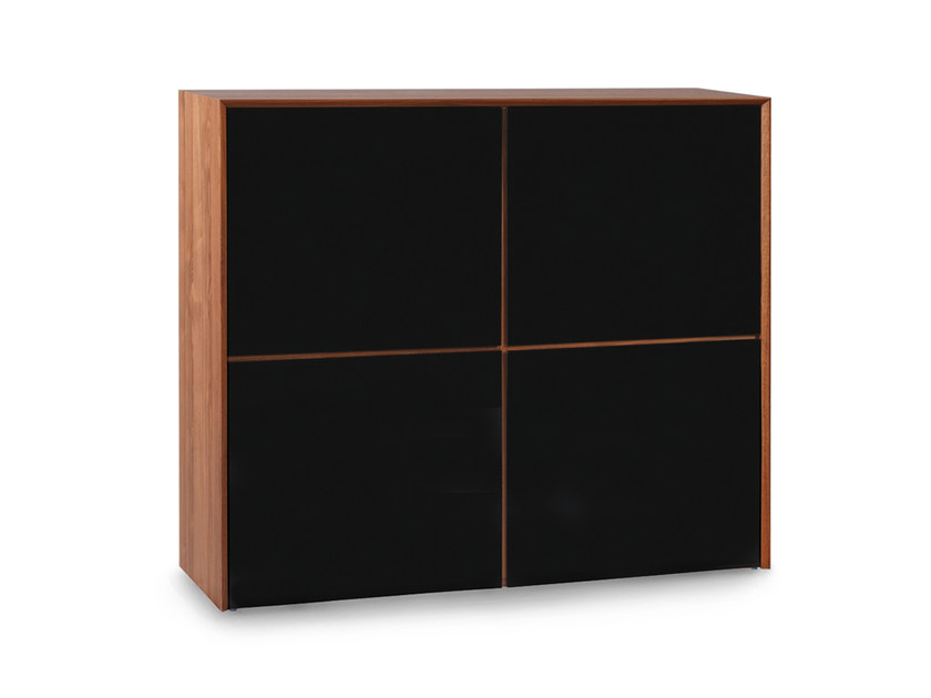 Lacquered wooden highboard with doors TISCHLEIN | Highboard - Oliver B.