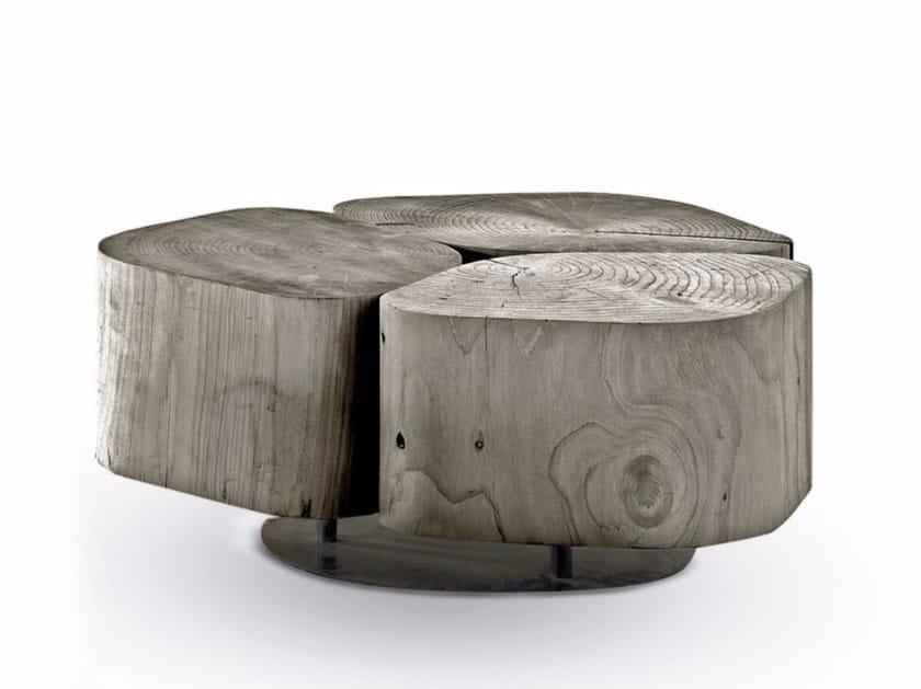 Cedarwood garden side table TOBI 3 OUTDOOR - Riva 1920