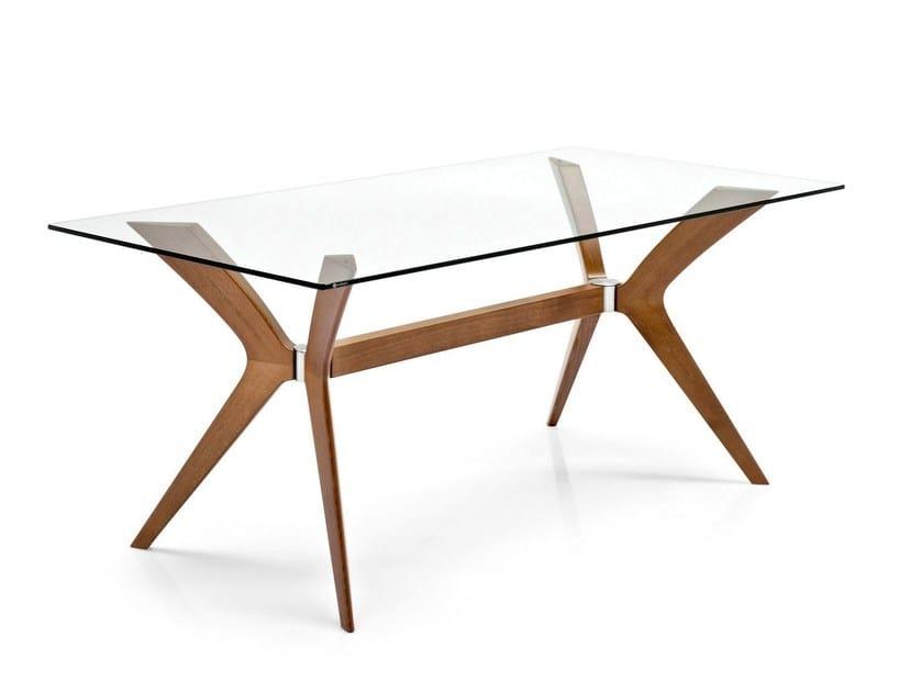Tavolo rettangolare in legno e vetro TOKYO | Tavolo rettangolare - Calligaris