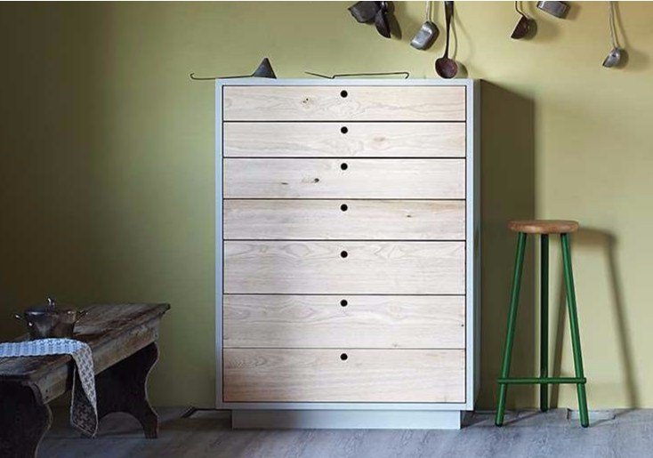 Free standing wooden chest of drawers TOLA | Free standing chest of drawers - Miniforms