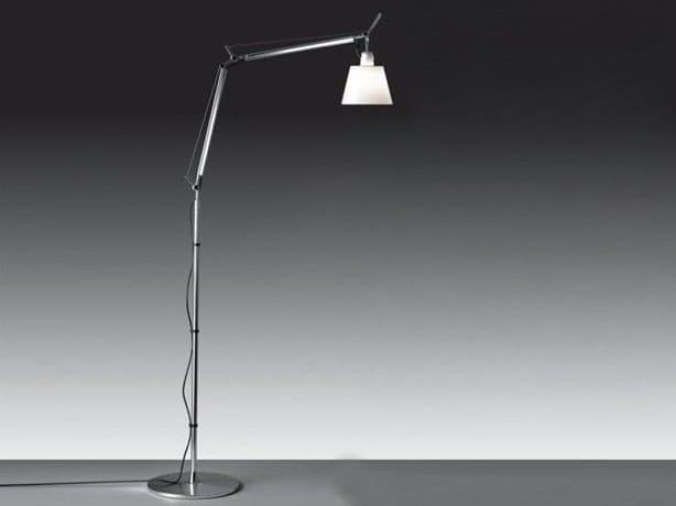 Height-adjustable halogen adjustable aluminium reading lamp TOLOMEO FLOOR BASCULANTE by Artemide