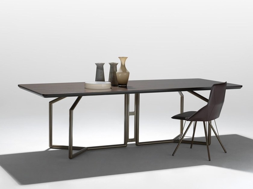 Rectangular wooden table TOLOMEO | Rectangular table by Esedra