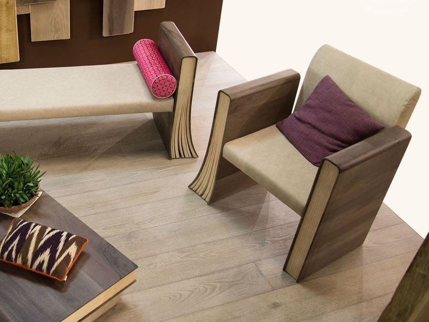 Wooden easy chair TOMI DE LEGN | Easy chair by CADORIN GROUP