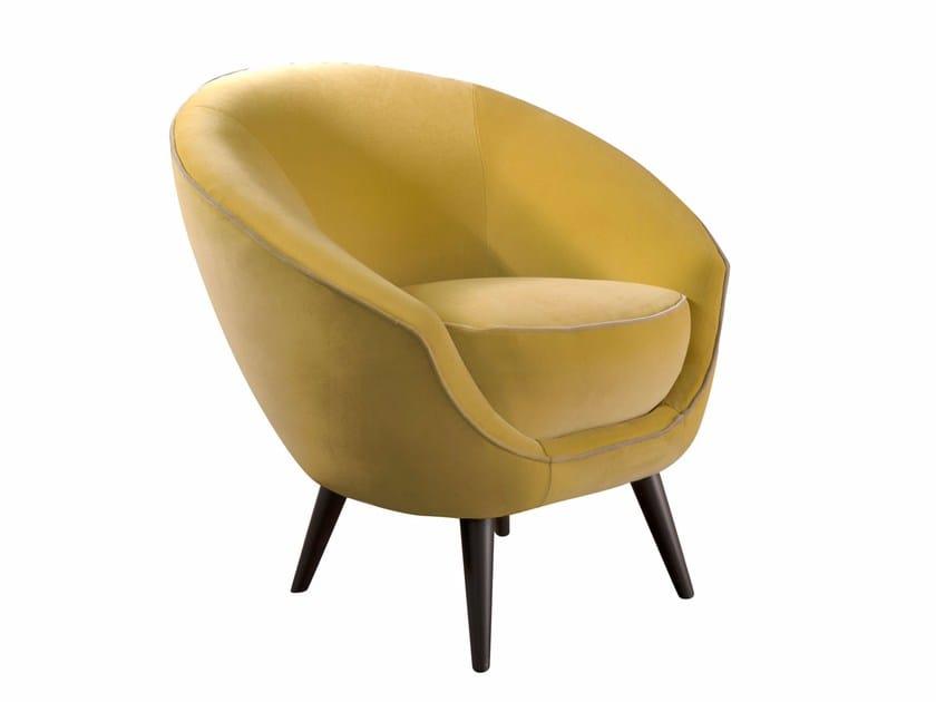 Upholstered fabric armchair TONDA - SOFTHOUSE