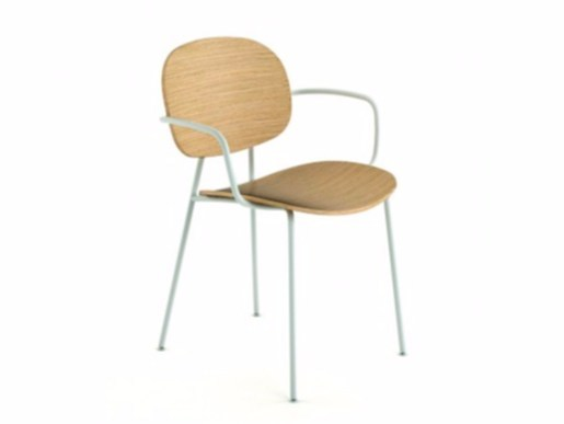 Multi-layer wood chair with armrests TONDINA | Chair with armrests - Infiniti