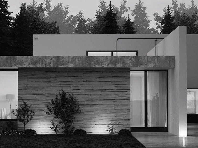Faretto per esterno a led da incasso tondo 3 nexo luce for Eclairage exterieur maison contemporaine