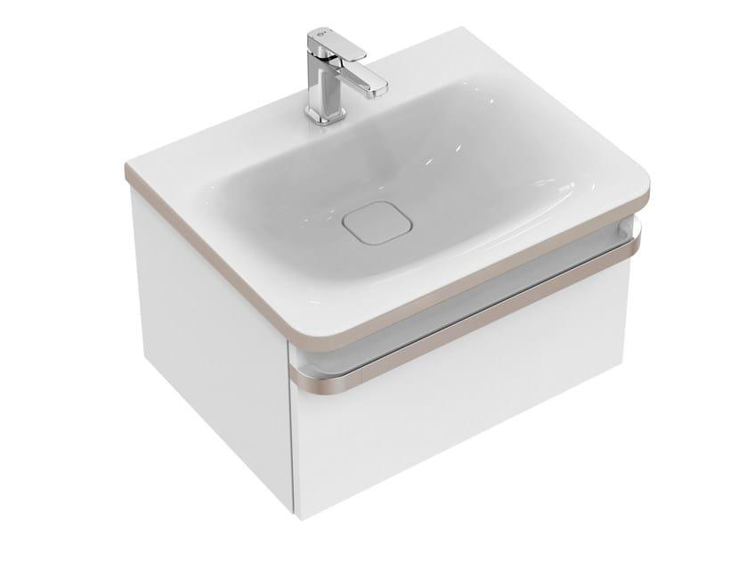 mobile lavabo singolo sospeso con cassetti tonic ii 60 cm r4302 ideal standard
