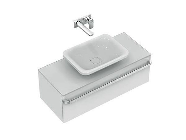 Countertop rectangular single ceramic washbasin TONIC II 55 cm - K0834 - Ideal Standard Italia