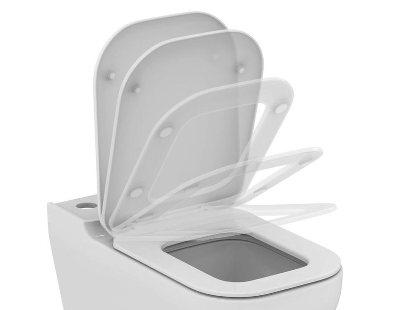 Toilet seat with soft close TONIC II - K7065 - Ideal Standard Italia