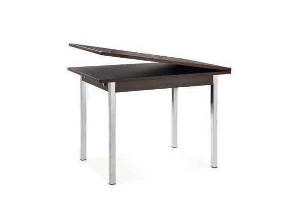 Extending rectangular laminate table TOOK LIBRO by CREO Kitchens