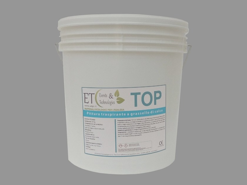 Breathable ecological paint with lime putty TOP by ET Events & Technologies