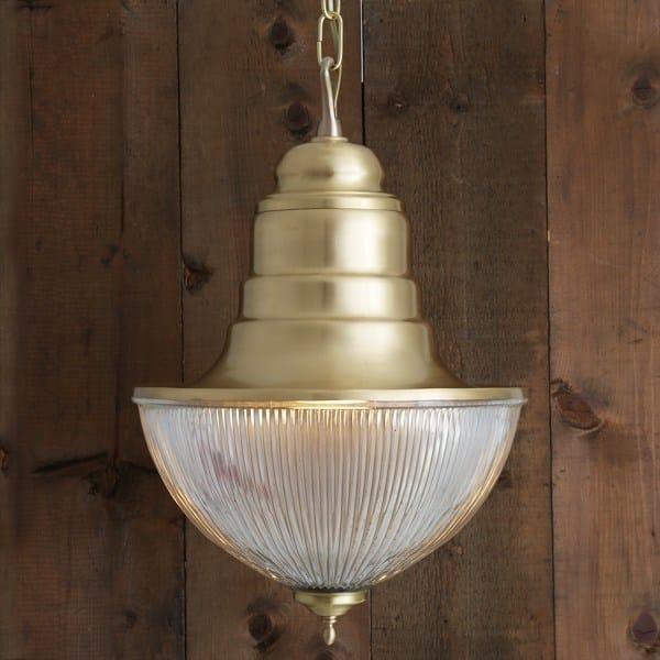 Direct light handmade brass pendant lamp TOP HAT PRISMATIC NAUTICAL PENDANT - Mullan Lighting