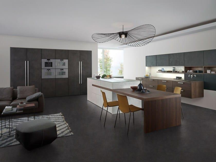 Kitchen with island TOPOS | CONCRETE - LEICHT Küchen
