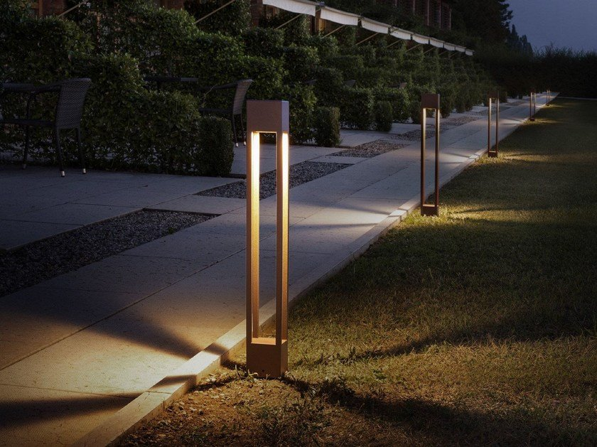 LED stainless steel bollard light TORCH - Olev by CLM Illuminazione