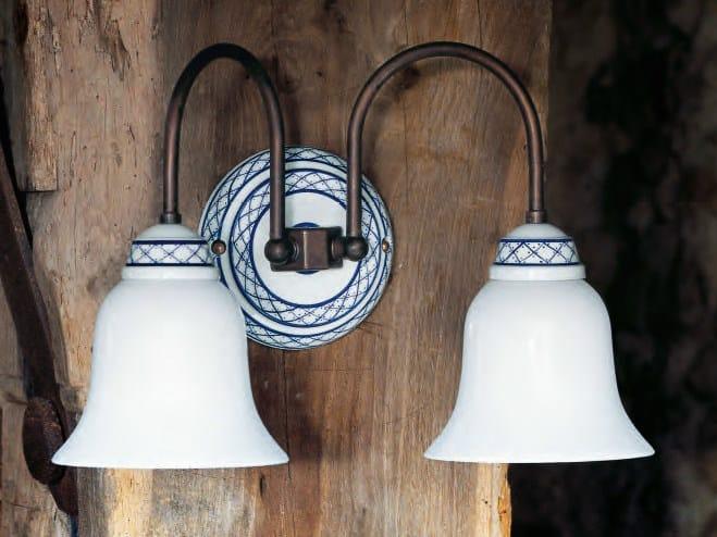 Glass wall lamp with fixed arm TORCIO | Wall lamp by Aldo Bernardi