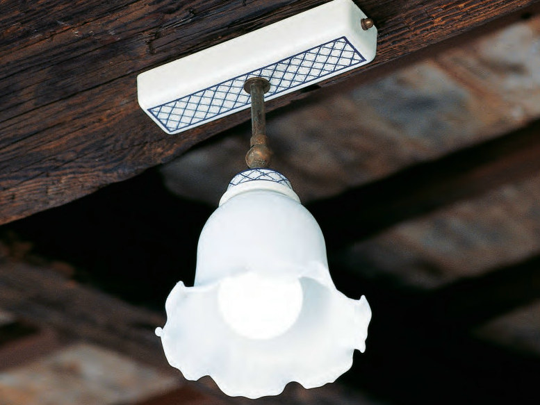 Ceramic ceiling lamp with fixed arm STUDIO   Ceiling lamp by Aldo Bernardi