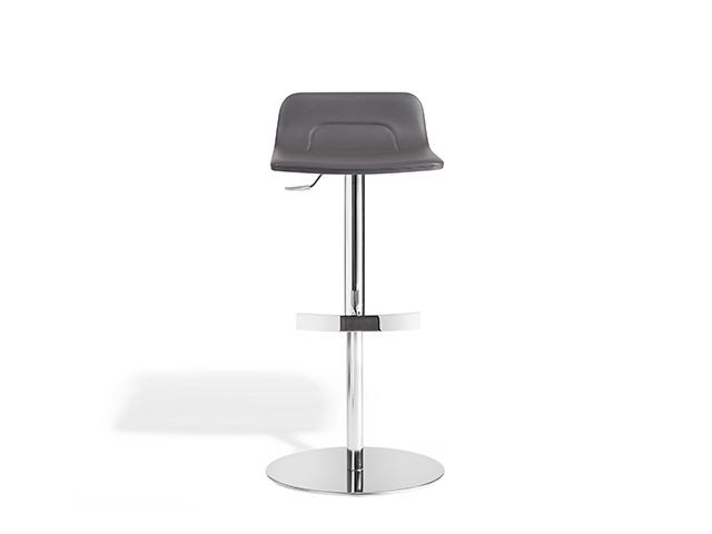 Imitation leather stool with gas lift TORSO | Stool - Potocco