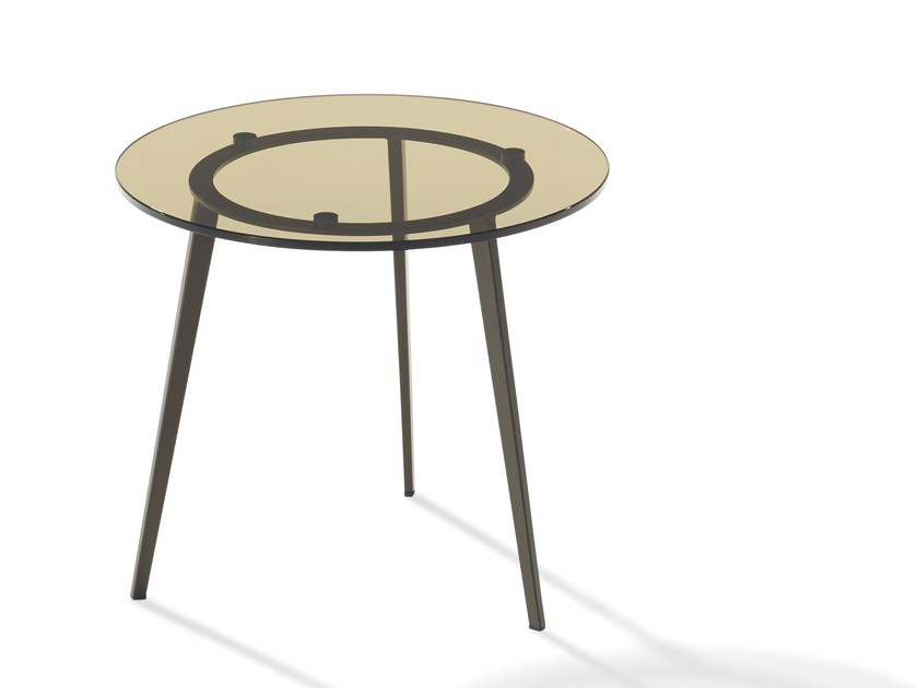 Round glass coffee table TOSCA | Glass coffee table - Draenert