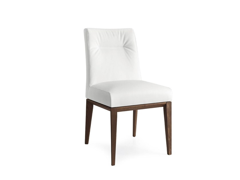 Upholstered leather chair TOSCA   Leather chair - Calligaris