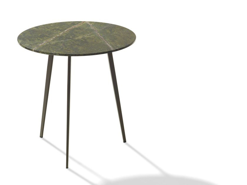 Round marble coffee table TOSCA | Marble coffee table - Draenert