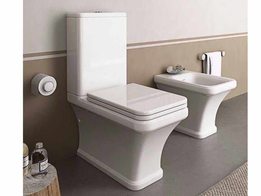 Close coupled ceramic toilet TOSCA | Close coupled toilet - Hidra Ceramica